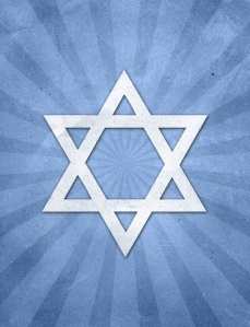 Judaism Starburst grunge background